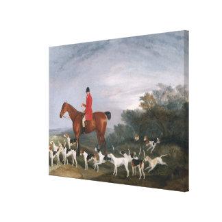 Hacia fuera cazando, 1841 impresión en lienzo