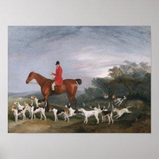 Hacia fuera cazando, 1841 póster