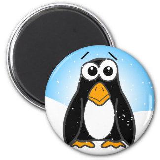 Hacia fuera dividido en zonas pingüino imán redondo 5 cm