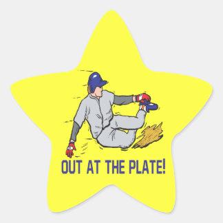 Hacia fuera en la placa calcomanía forma de estrella personalizada