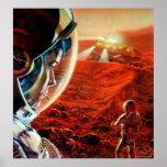Hacia fuera en una tormenta marciana del polvo impresiones