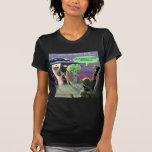 Hacia fuera espaciado vegano divertido camisetas