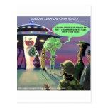 Hacia fuera espaciado vegano divertido postales