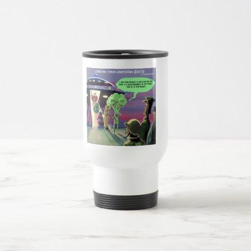 Hacia fuera espaciado vegano divertido taza de café