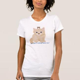 Hacia fuera Freaked gatito Camisas