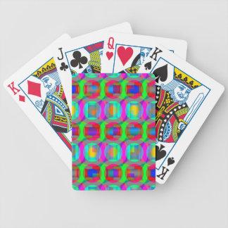 Hacia fuera geométrico lejano baraja cartas de poker