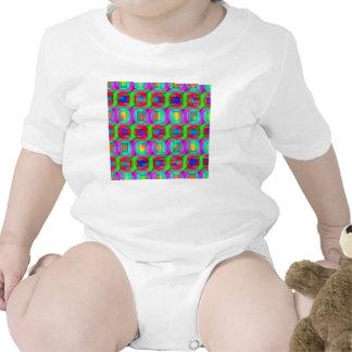 Hacia fuera geométrico lejano traje de bebé