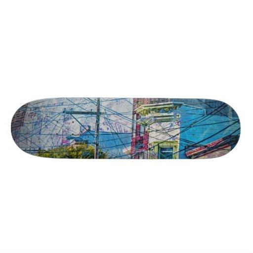 Hacia fuera ligados Victorians en el distrito SanF Skateboards