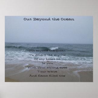 Hacia fuera más allá del océano póster