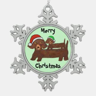 Hacia fuera ornamento cubierto del navidad de los adorno de peltre en forma de copo de nieve