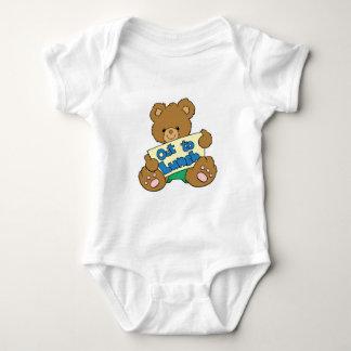 Hacia fuera para almorzar oso de peluche body para bebé