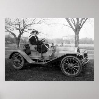 Hacia fuera para un paseo: 1900s tempranos póster