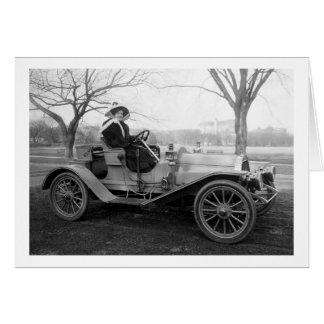 Hacia fuera para un paseo, 1900s tempranos tarjeta de felicitación