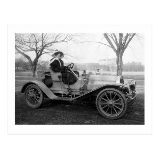 Hacia fuera para un paseo, 1900s tempranos tarjeta postal