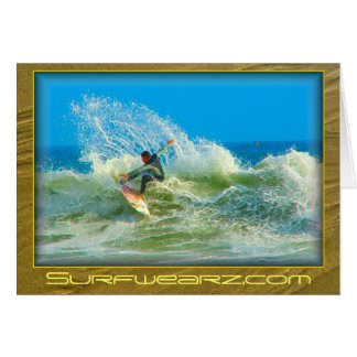 Hacia fuera practicada surf tarjeta de nota