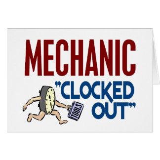 Hacia fuera registrado mecánico tarjeton