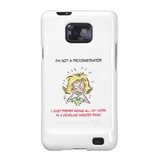 Hacia fuera subrayado Procrastinator divertido de Galaxy S2 Carcasa