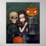 Hacia fuera truco o impresión del arte de Hallowee Impresiones