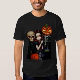 Hacia fuera Truco-o-Tratar la camisa de Halloween