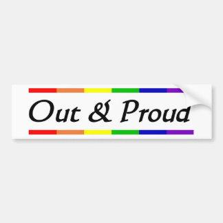Hacia fuera y orgulloso pegatina de parachoque