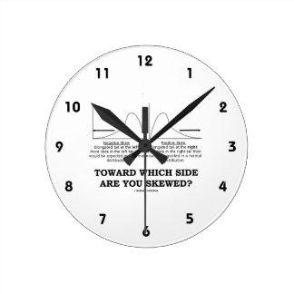 ¿Hacia qué lado le sesgan? Stats de la oblicuidad Reloj Redondo Mediano