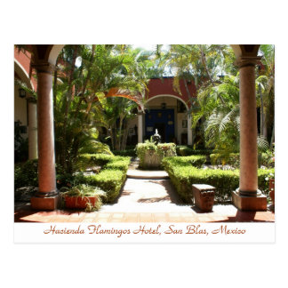 Hacienda Flamingos San Blas Mexico Postcard