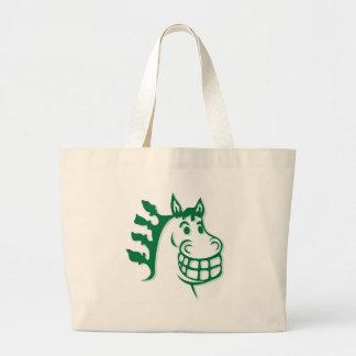 Hacienda Hay & Feed Green Horse Canvas Bag