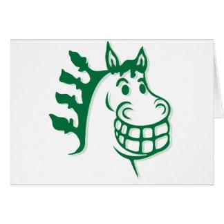 Hacienda Hay & Feed Green Horse Card