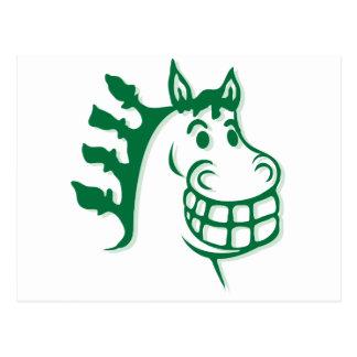 Hacienda Hay & Feed Green Horse Postcard