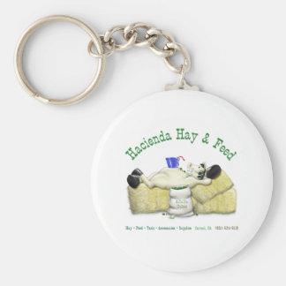Hacienda Hay & Feed Laid back Horse Keychain
