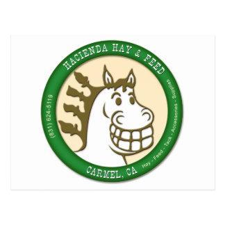Hacienda Hay & Feed Logo Postcard