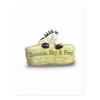 Hacienda Hay & Feed Straw Bale Postcard