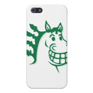 Hacienda heno y caballo verde de la alimentación iPhone 5 carcasas