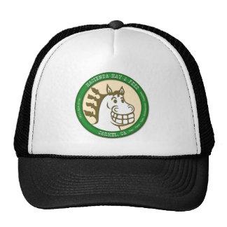 Hacienda heno y logotipo de la alimentación gorra