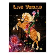 Hacienda Horse and Rider neon sign, Las Vegas Postcard