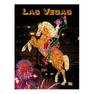 Hacienda Horse and Rider neon sign, Las Vegas Post Card