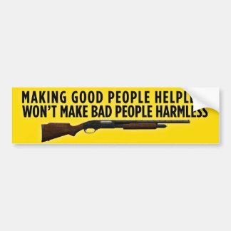 Haciendo a buena gente desamparada pegatina de parachoque