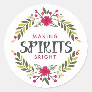 Haciendo bebidas espirituosas al pegatina