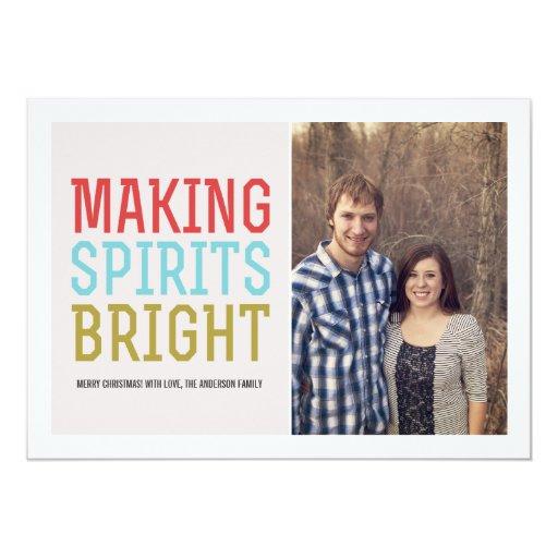 Haciendo bebidas espirituosas la foto brillante invitación 12,7 x 17,8 cm