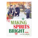Haciendo bebidas espirituosas la tarjeta brillante