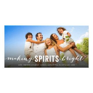 Haciendo bebidas espirituosas la tarjeta brillante tarjeta personal