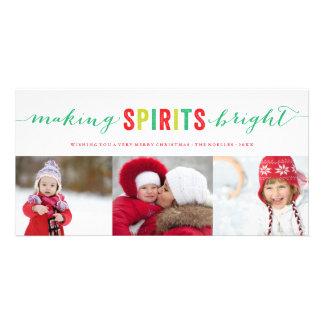 Haciendo bebidas espirituosas la tarjeta brillante tarjeta personal con foto