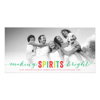 Haciendo bebidas espirituosas la tarjeta brillante tarjetas con fotos personalizadas