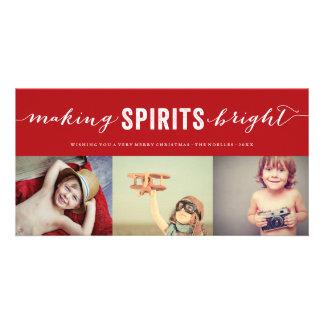 Haciendo bebidas espirituosas la tarjeta brillante tarjetas fotograficas personalizadas