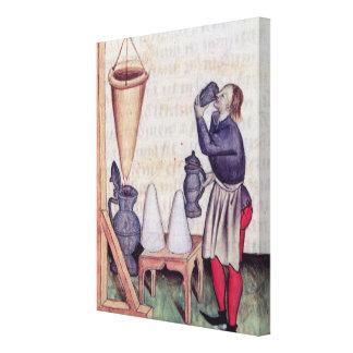Haciendo el jarabe de azúcar, de 'Tractatus de Her Impresión En Lienzo