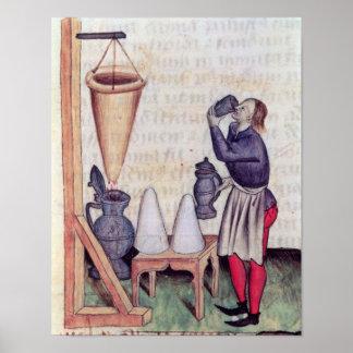 Haciendo el jarabe de azúcar, de 'Tractatus de Her Póster