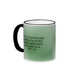 Haciendo el mundo un mejor lugar taza de café