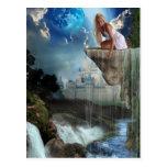 Haciendo las cascadas (postal)