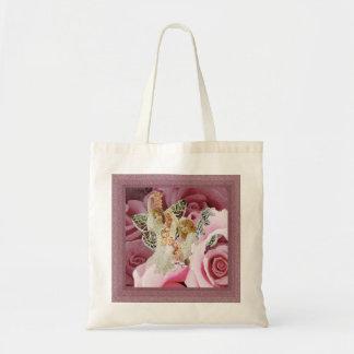 Haciendo leus color de rosa bolsa tela barata