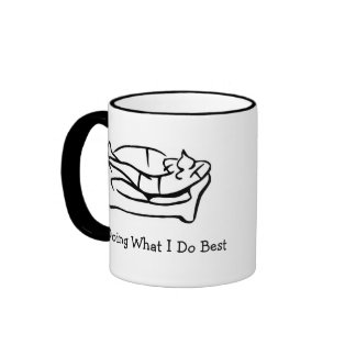 Haciendo lo que hago mejor taza de café